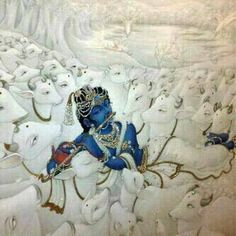Krishna and His cows