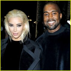 Kim Kardashian hits up the Balmain show as part of Paris Fashion Week Womenswear Fall/Winter 2015/2016 after debuting her new platinum blonde hair on Thursday (March 5) in Paris, France. The 34-year-old reality star was joined at the show by her husband Kanye West (who showed off a rare smile!), mom Kris Jenner, Solange Knowles,