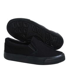 Take a look at this All Black Gored Slip-On Sneaker on zulily today!