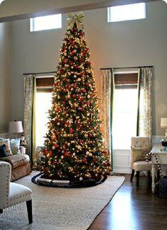 12 Ft Tall Artificial Slim Christmas Tree W 1100 Lights Stunning Http