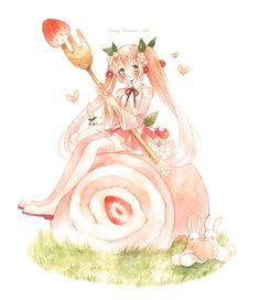 """えこ (Eco), """"Cherry Blossoms"""""""