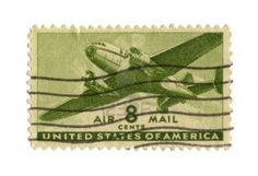 Image detail for -Old Postage Stamp From USA Eight Cents - Airmail .