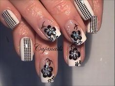 $0.99 1 Sheet Street-chic Colored Houndstooth Pattern 3D Nail Art Decals Transfers Sticker - BornPrettyStore.com