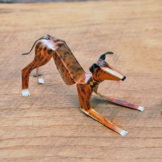 Greyhound Dog Sculpture Handmade Copper by EricasCreatures on Etsy