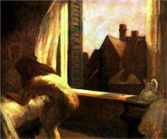 Moonlight Interior by Edward Hopper. This is one of Hopper's most psychologically charged works. - DHK