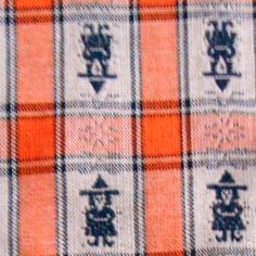 Vintage 2y Orange/black Plaid witches HALLOWEEN FABRIC tablecloth drapery party #BigBoyTumbleweed