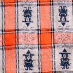 Vintage 2y Orange/black Plaid witches HALLOWEEN FABRIC tablecloth drapery party #BigBoyTumbleweed