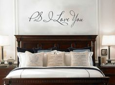PS I Love You vinyl wall quote sticker that by WordFactoryDesign, $21.00