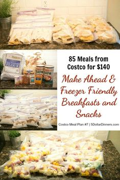 85 Freezer Friendly & Make-Ahead Breakfast & Snacks for $140 – Reclaim Your Frantic Weekday Mornings! | 5DollarDinners.com
