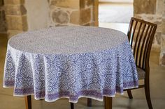 Jasmin lavender gray cotton tablecloth by JemmaHomeDecor on Etsy