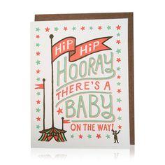 hip hip hooray baby card