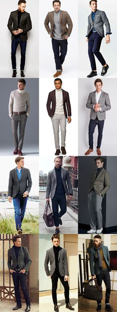 Men's Tweed Blazers and Trousers Off-Duty Outfit Inspiration Lookbook