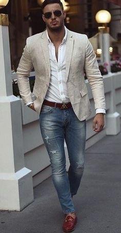 Hombre moda casual - Fashion Tutorial and Ideas Mode Masculine, Fashion Mode, Urban Fashion, Fashion Styles, Style Fashion, Fashion Blogs, Spring Fashion, Stylish Men, Men Casual