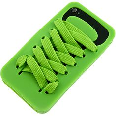 #Shoelace Silicone Skin Cover for Apple #iPhone 4 & iPhone 4S, Cool Green $9.89 From #DayDeal