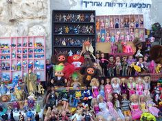 Have a collection of dolls? Looking for a tiny smurfs? You'll find plenty of them at The Flea Market in Tel Aviv.