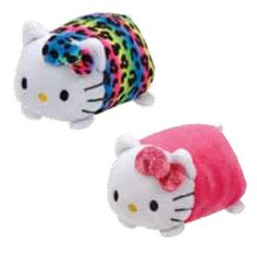 TY Beanie Boos - Teeny Tys Stackable Plush - Hello Kitty - SET OF 2 (Pink    Rainbow) cfb1c0c38af0