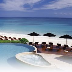 Rosewood Mayakoba. The beach is not always so white, but still....