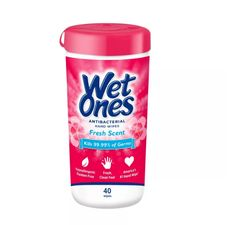 Wet Ones Antibacterial Hand Wipes Canister - Fresh Scent - Plastic Canisters, Cotton Swab, Wet Wipe, Wipe Away, Donate To Charity, Fresh And Clean, Health Facts, Hand Sanitizer, Fragrance