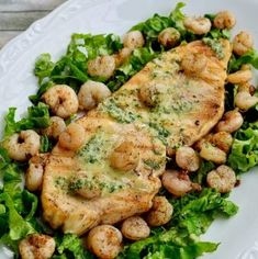 Butterfish cu creveţi şi sos de lămâie Broccoli, Fish, Chicken, Meat, Pisces, Cubs