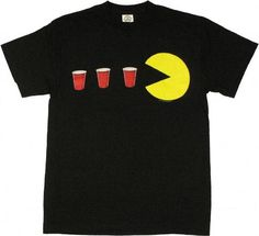 Commemorate your favorite cult classic with an awesome Pac-Man Red Cup Power Up Adult Black T-shirt . Free shipping on Pacman orders over $50.