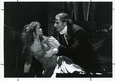 Press photo: David Staller and Elizabeth Walsh in Hirschfield's Phantom of the Opera.  Ca. 1998.