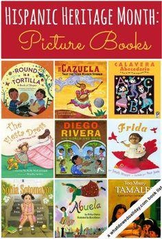 Creative Books for kids for Hispanic Heritage month | Libros creativos para niños en el mes de la Herencia Hispana