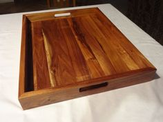 Beautiful wood serving tray
