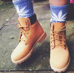 I have these huf socks in purple, I just the timberlands