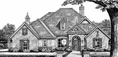 European Style House Plans - 2659 Square Foot Home , 1 Story, 4 Bedroom and 3 Bath, 3 Garage Stalls by Monster House Plans - Plan 8-406