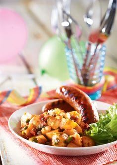 Chilpotle-perunasalaatti ja grillimakkarat | Meksiko | Pirkka  #food #Mexican
