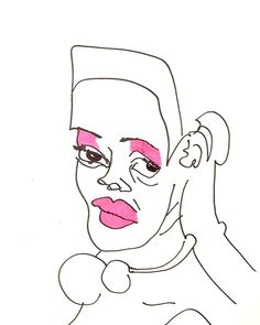 belle BRUT sketchbook:  # FASHION # STYLE # LUPITA # ILLUSTRATION # BLIND CONTOUR # SKETCHBOOK  © belle BRUT 2014 http://bellebrut.tumblr.com/post/93652013195/belle-brut-sketchbook-lupita