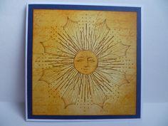 Here comes the sun...Inkadinkado Stamping Gear card