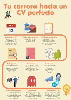 Tu carrera hacia un C.V. perfecto #Infografia #empleo