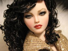 Isabel, a Gene repaint Barbie Dolls, Dolls Dolls, Face Images, Doll Repaint, Custom Dolls, Doll Face, Close Up, Curly Hair Styles, Models