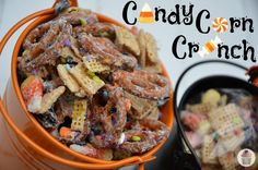 Candy Corn Crunch Halloween Mix :: HoosierHomemade.com