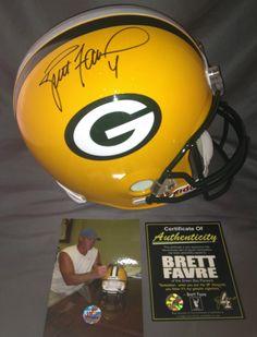 Brett Favre Signed Autographed Green Bay Packers Riddell NFL Full Size Helmet