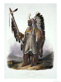 Mato-Tope, a Mandan Chief.    by Karl Bodmer. kK
