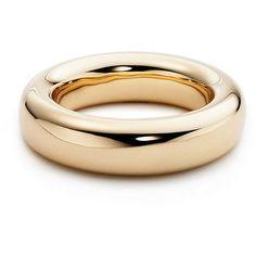 Elsa Peretti® Doughnut Bangle ($18,000) via Polyvore featuring jewelry, bracelets, tiffany, gold bangles jewelry, bangle bracelet, hinged bracelet, 18k bangle bracelet and bracelets bangle