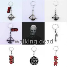 Cool The Walking Dead Alloy Pendent Keychain Fighting The Death Fear The Living Pendant Christmas Gifts For Fans Movie Jewelry