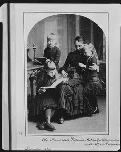 The Royal Collection: Princess Marie, Princess Victoria Melita, and Princess Alexandra of Edinburgh with Mademoiselle