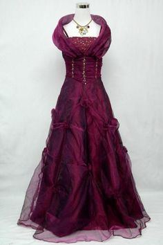 Cherlone Satin Purple Formal Gown Ball Cocktail Wedding Evening Prom Party Dress
