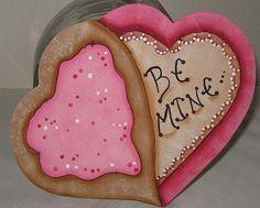 Valentine DecorValentine Cookie LidsCookie Jar LidsWood by jusbcuz