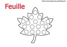 Coloriage feuille à gommette Bingo Dabber, Do A Dot, Preschool Writing, Dot Painting, Activities For Kids, Symbols, Printables, Letters, Sunday School