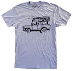 Surf Truck Blue Land Rover T-Shirt   Mountain Trading Company Chevy Classic, Classic Chevy Trucks, Classic Cars, Black Water, How To Look Better, Surfing, Shirt Designs, Tees, Men's Shirts