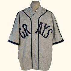 a806c2f4772 Homestead Grays 1937 Road Negro League Baseball, National League, Flannels,  Baseball Jerseys,. Ebbets Field Flannels