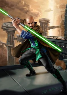 A Jedi commission for thanks for your support Thomas Zhaan Star Wars Jedi, Star Wars Rpg, Star Wars Characters Pictures, Star Wars Images, Dungeons And Dragons, Jedi Sith, Jedi Armor, Star Wars Light, Jedi Knight