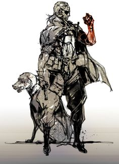 "Big Boss, ""Punished Snake"" & Dog, Metal Gear Solid V."