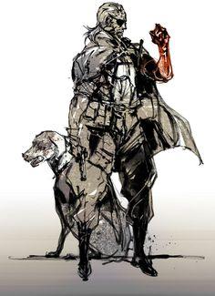 """Big Boss, """"Punished Snake"""" & Dog, Metal Gear Solid V."""