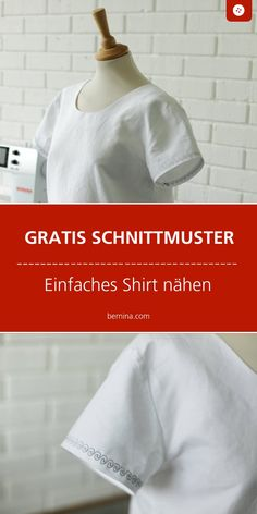 Fantastic No Cost sewing dresses simple Thoughts Einfache Bluse nähen: kostenloses Schnittmuster Sewing Patterns Free, Free Sewing, Dress Patterns, Free Pattern, Pattern Sewing, Sewing Tips, Sewing Hacks, Sewing Ideas, Belted Shirt Dress