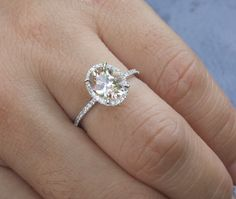 14k White Gold 9x7mm Morganite Oval and by Twoperidotbirds on Etsy, $845.00